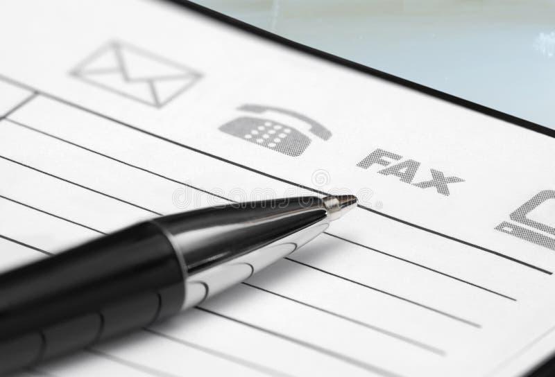 笔和计划程序 免版税库存照片