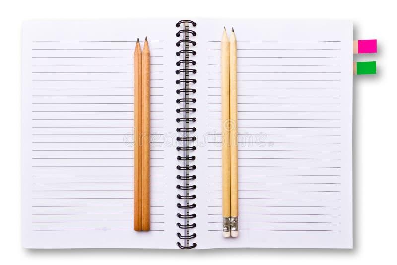 笔记本书写白色 库存图片
