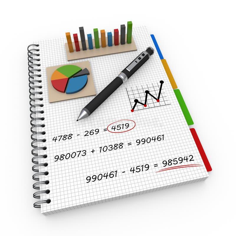 笔记本会计概念 免版税库存照片