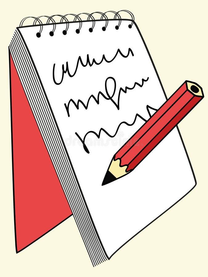 笔记本写道 皇族释放例证