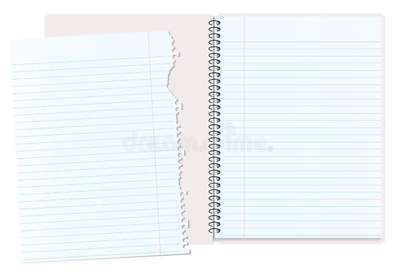 笔记本剥去了 库存例证
