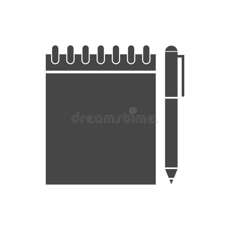 笔记本和铅笔象 库存例证