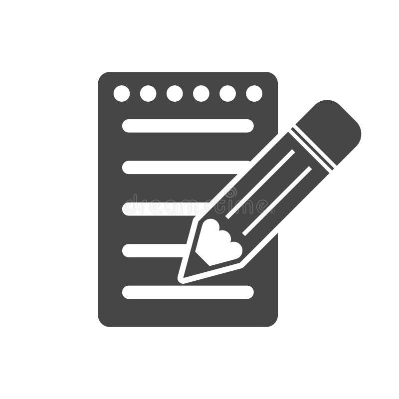 笔记本和铅笔象 皇族释放例证