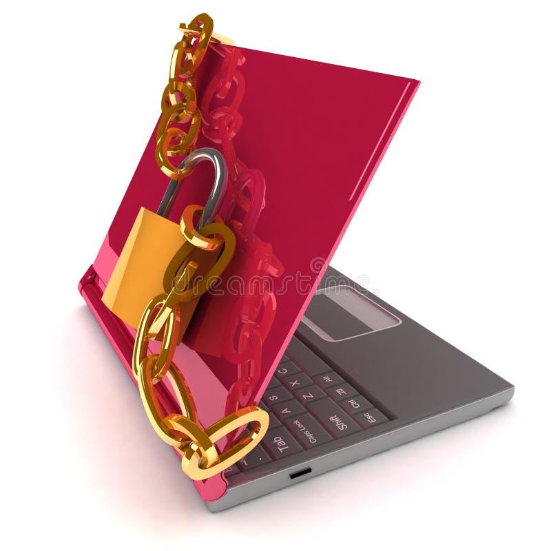 笔记本安全 库存例证