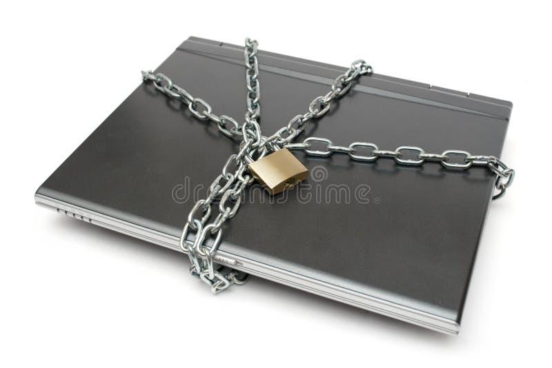 笔记本安全 免版税库存图片