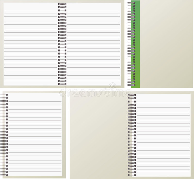 笔记本开张 皇族释放例证