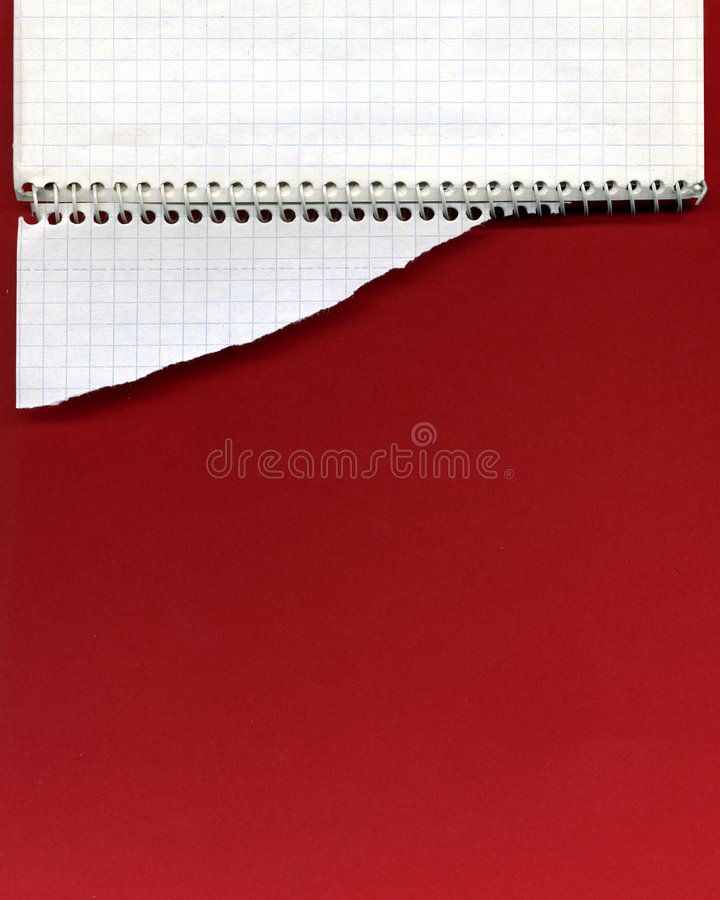 笔记本开放螺旋 免版税图库摄影