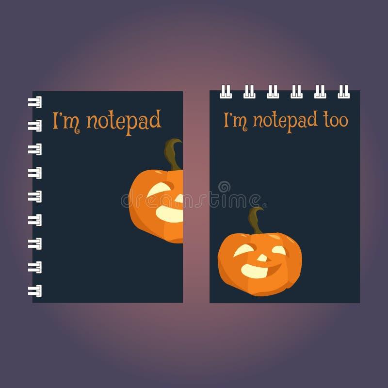 笔记本或写生簿盖子两块模板  库存例证