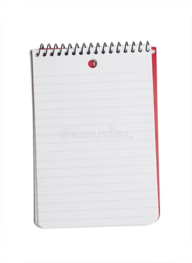 笔记本白色 库存照片