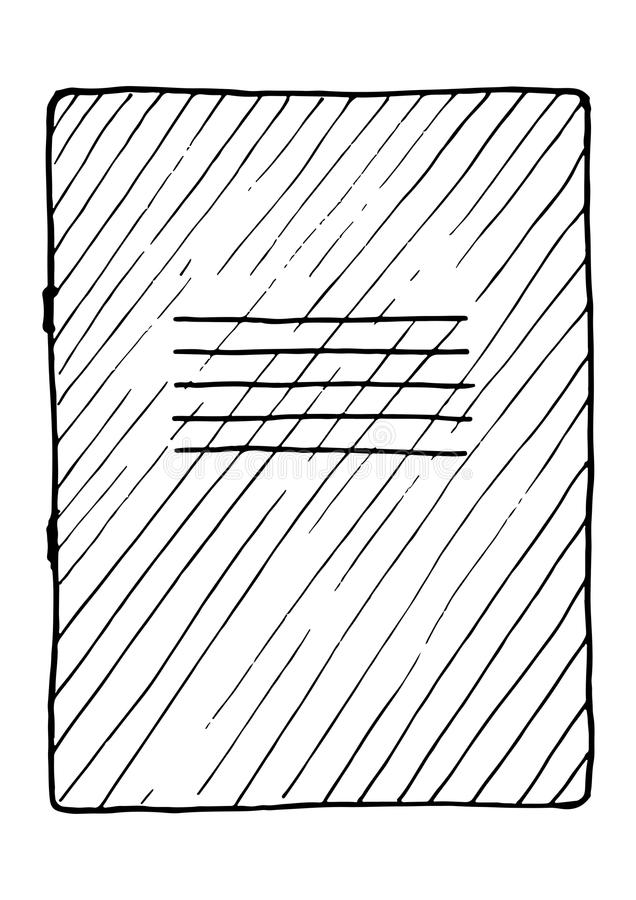 笔记本的例证 皇族释放例证