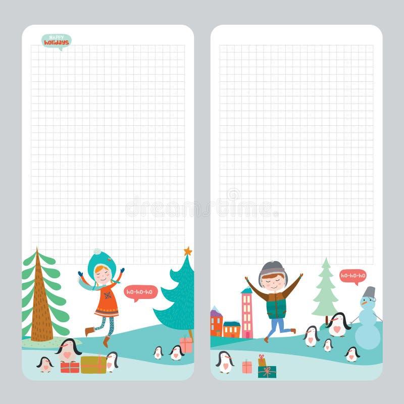 笔记本的,日志,组织者圣诞节设计 库存例证