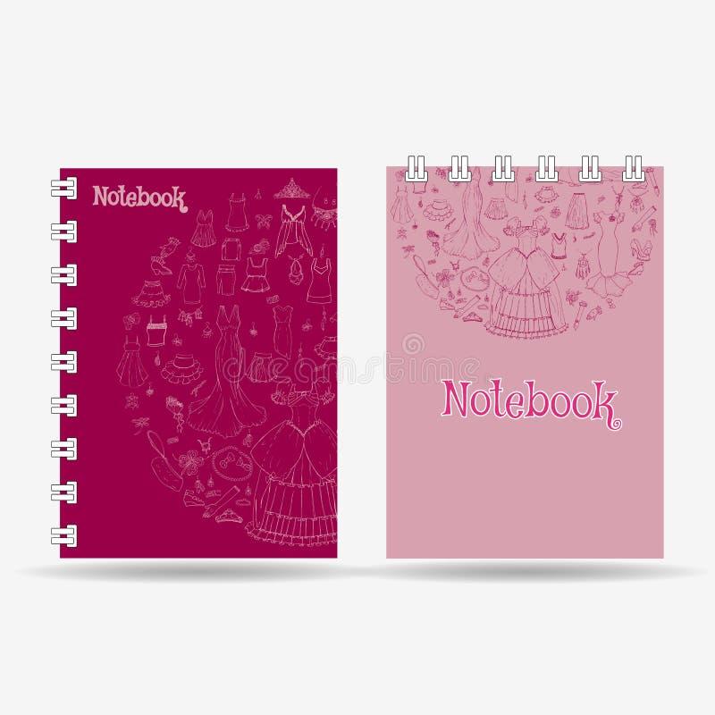 笔记本盖子设计 向量例证