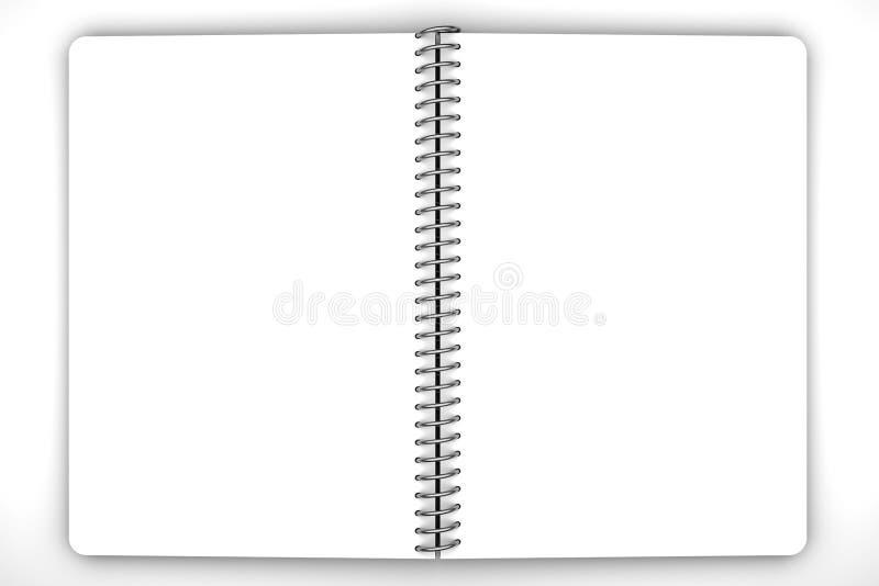 笔记本空白 向量例证