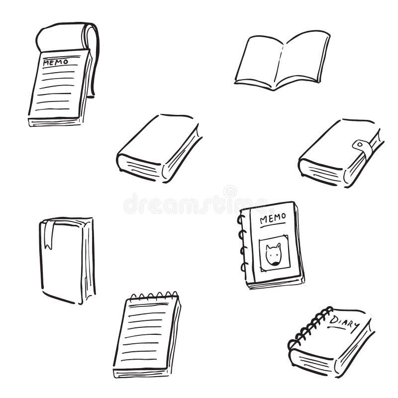 笔记本笔记薄动画片图画乱画 向量例证