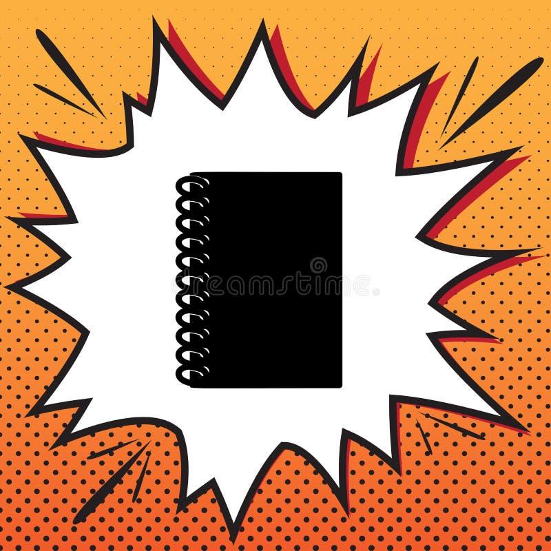 笔记本简单的标志 向量 漫画在流行音乐艺术backg的样式象 向量例证