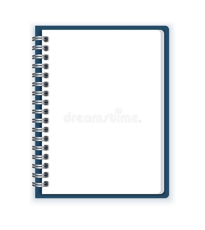 笔记本纸传染媒介背景 皇族释放例证