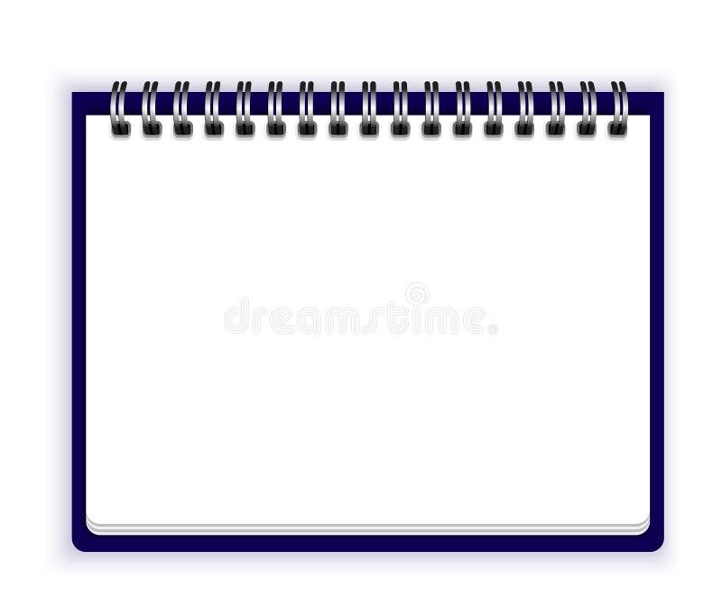 笔记本纸传染媒介背景 向量例证