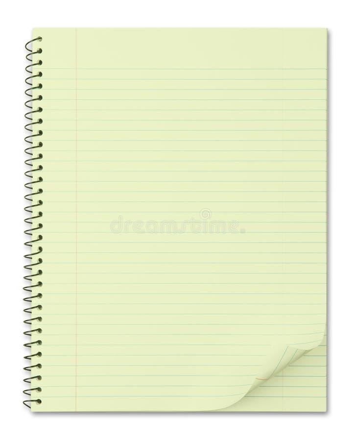 笔记本纸张被回收的典型的黄色 图库摄影