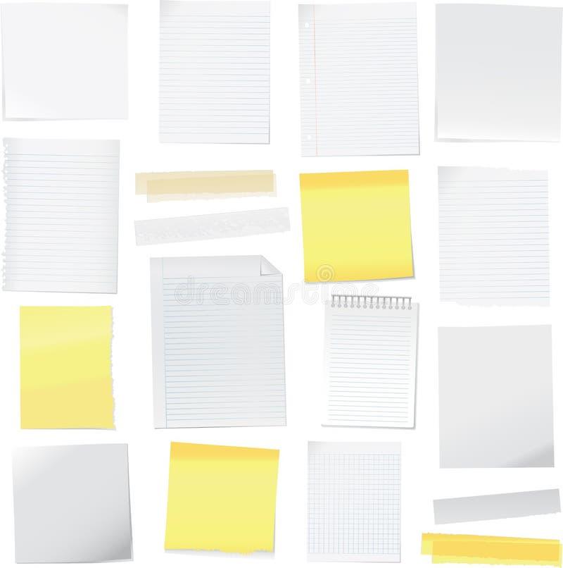 笔记本纸张 向量例证