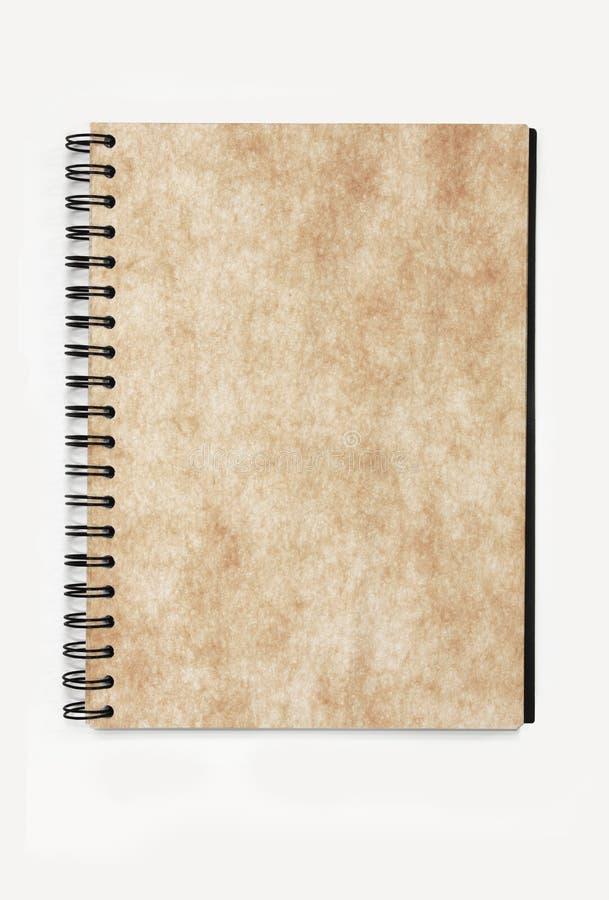 笔记本纸模式螺旋 库存照片