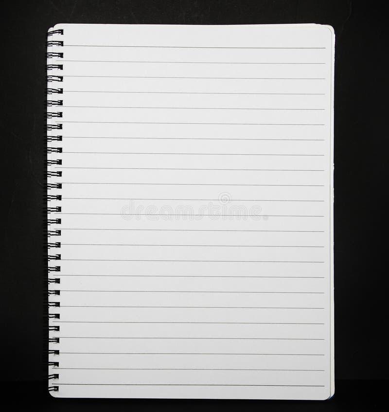笔记本被排行的纸张 库存照片