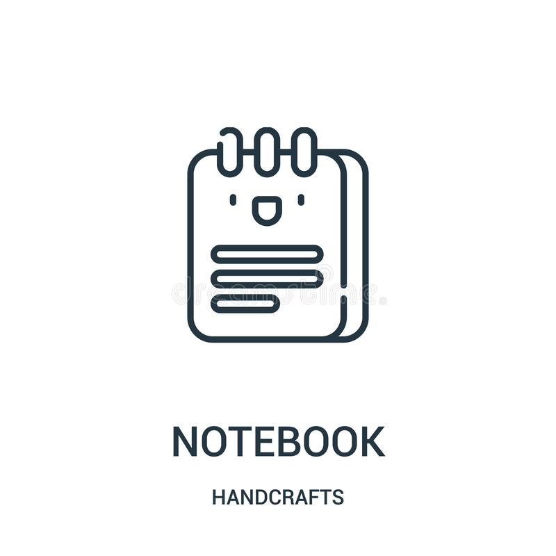 笔记本象传染媒介从手工造汇集 稀薄的线笔记本概述象传染媒介例证 r 皇族释放例证