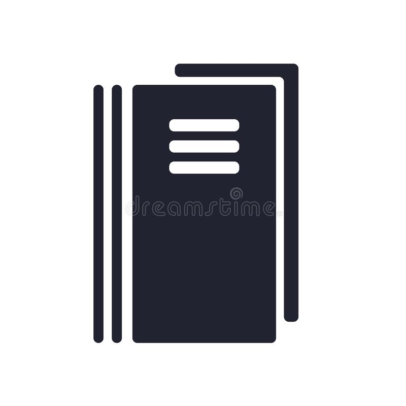 笔记本象在白色背景和标志隔绝的传染媒介标志,笔记本商标概念 向量例证