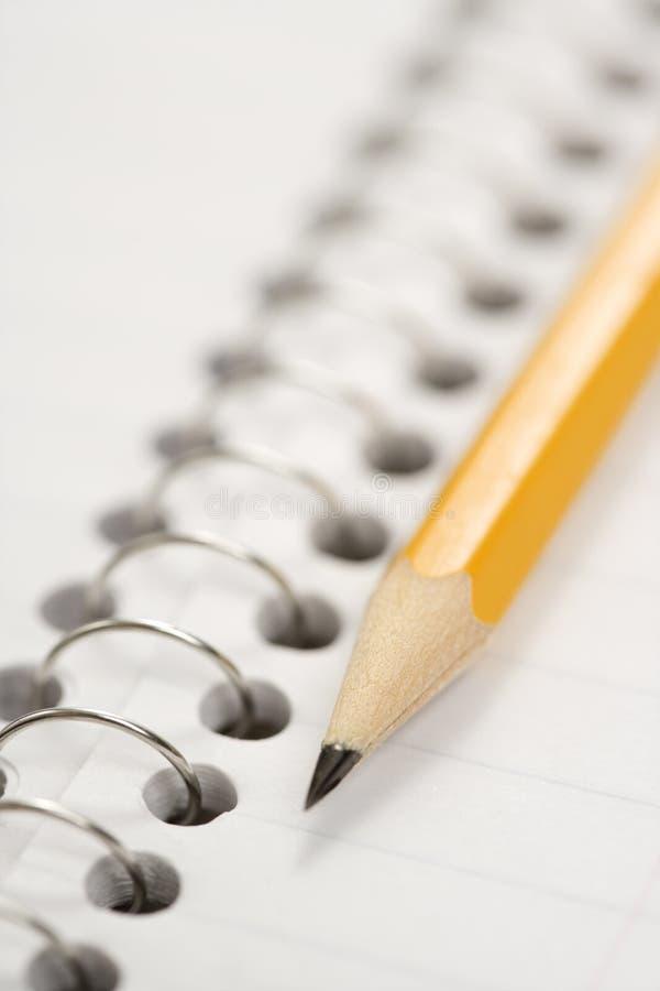 笔记本铅笔 库存图片