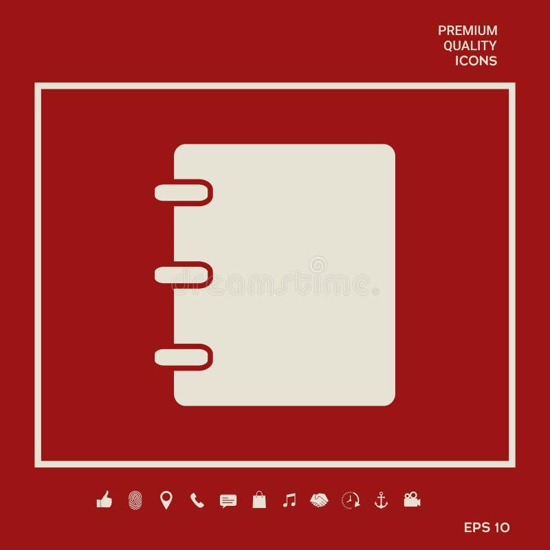 笔记本,地址,与封口盖板的电话簿象 您的设计的图表元素 皇族释放例证