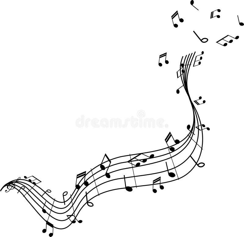 笔记腾飞的音乐  库存例证