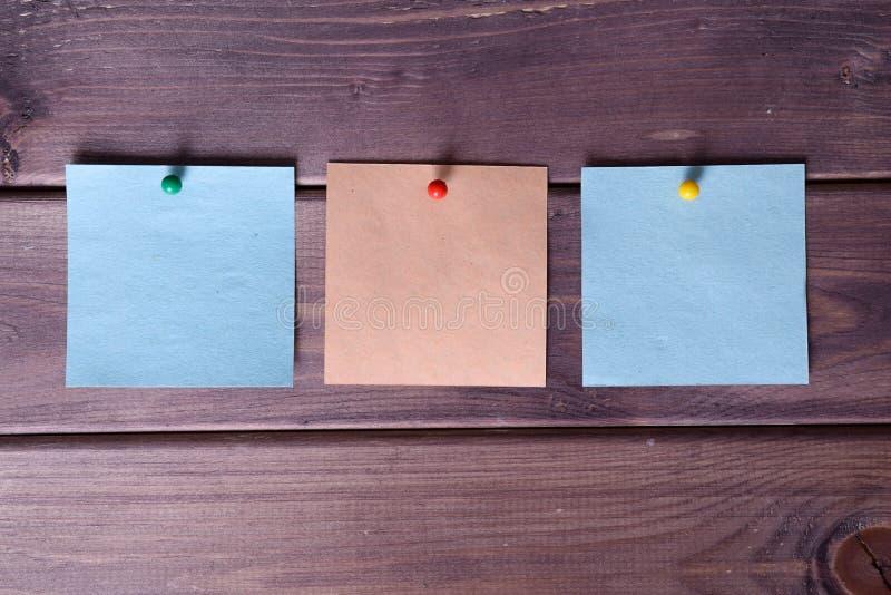 笔记,贴纸 免版税库存图片
