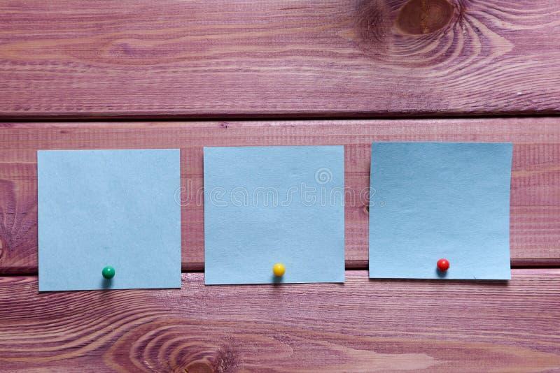 笔记,贴纸 库存照片