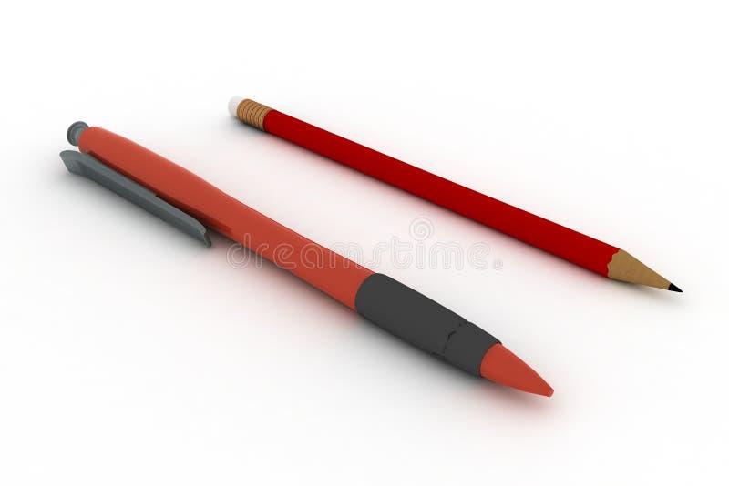 笔铅笔白色 库存例证