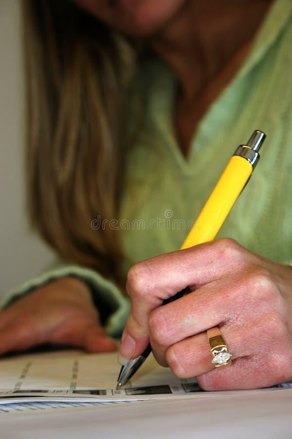 笔黄色 库存照片