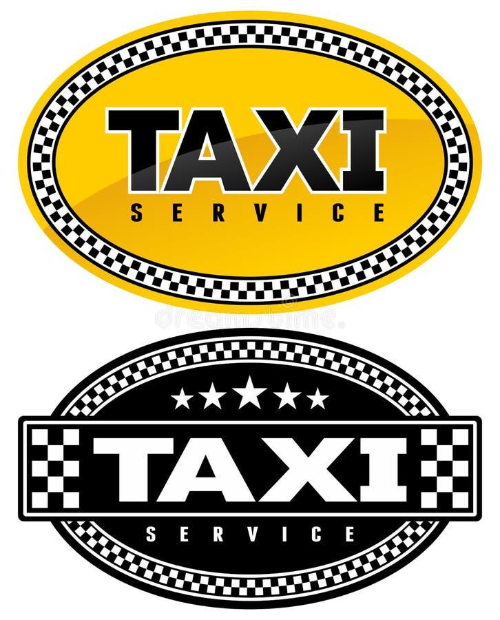 符号出租汽车 向量例证