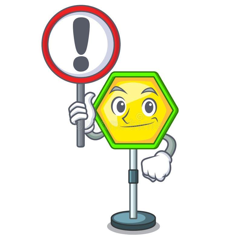 符号字符管理的交通标志和警告 皇族释放例证