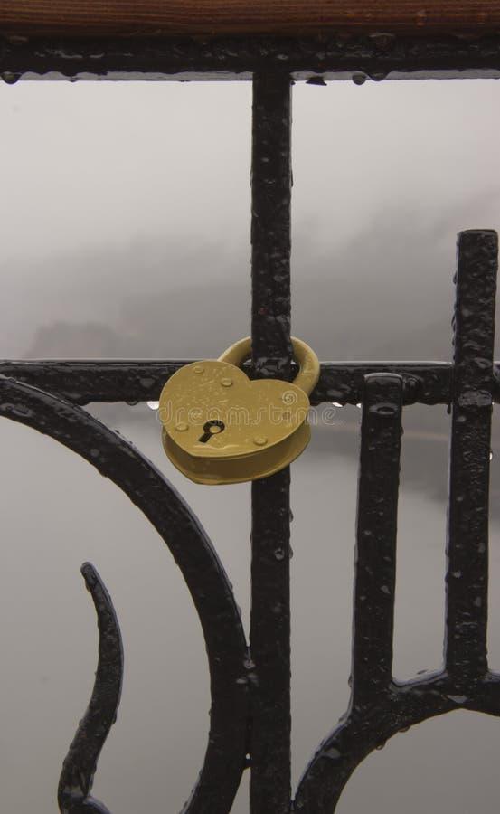 符号心脏附有金属链子 库存照片