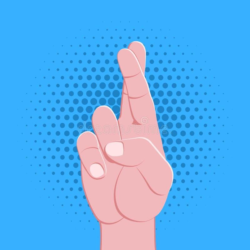 符号手手指打手势例证 向量例证