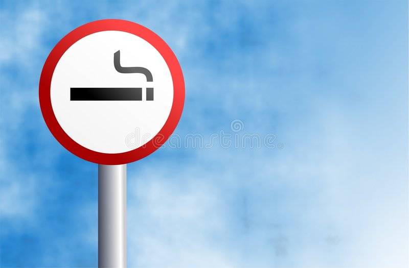 符号抽烟 向量例证