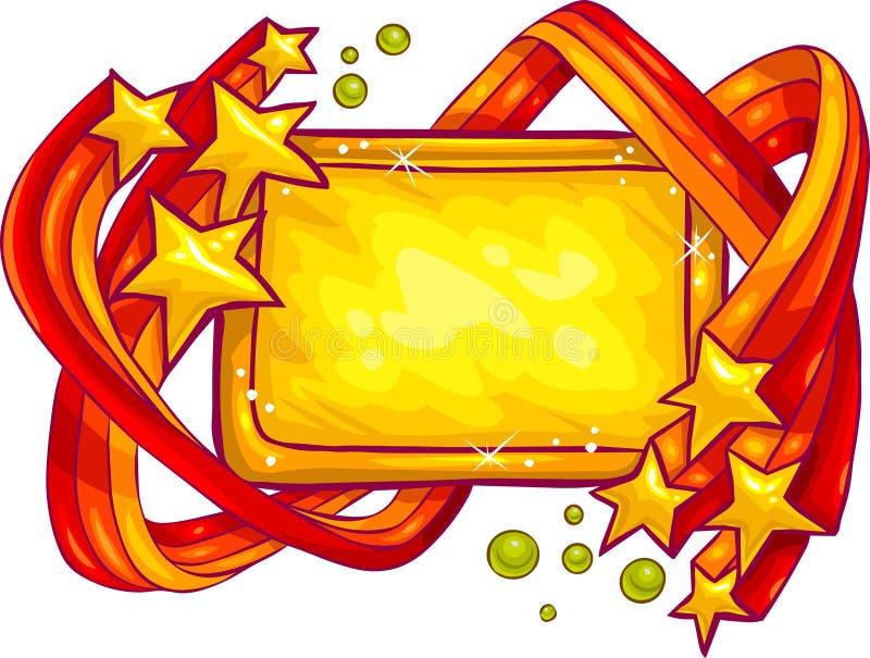 符号星形 向量例证