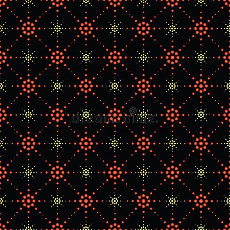 符号星的无缝的样式 向量例证