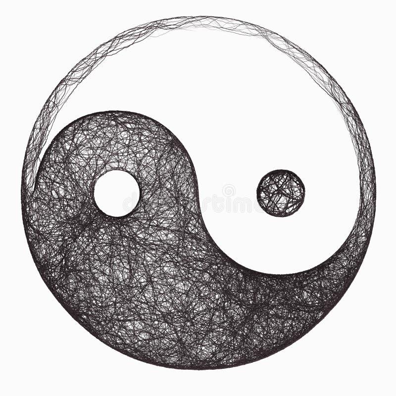 符号杨yin 库存例证