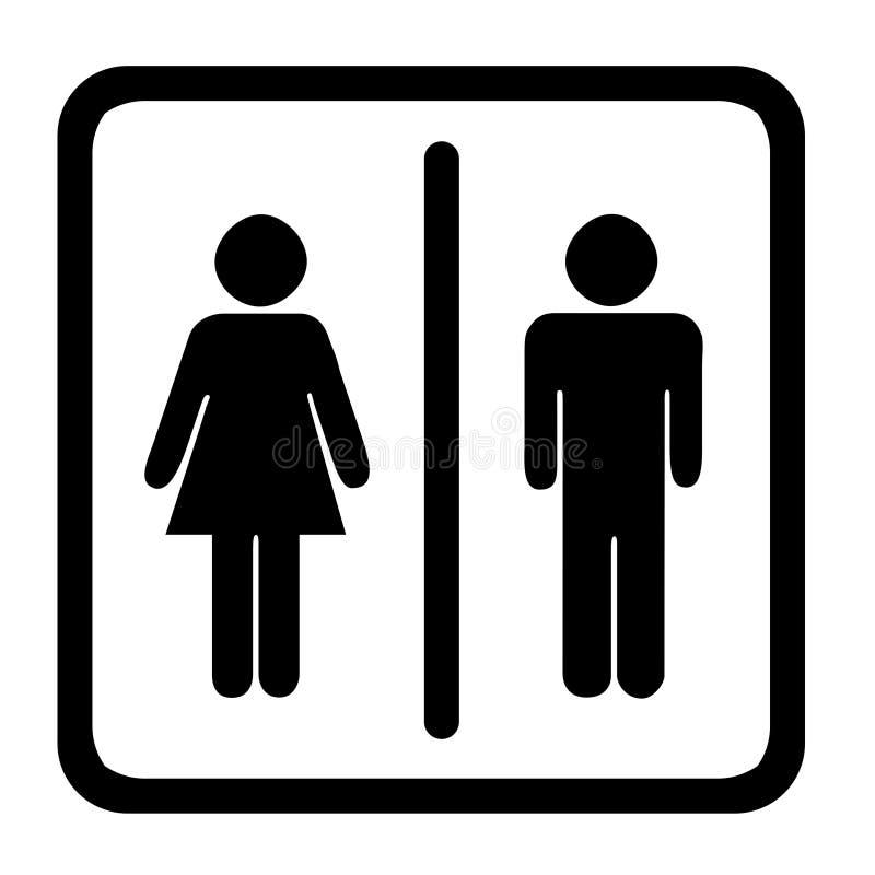 符号洗手间 皇族释放例证