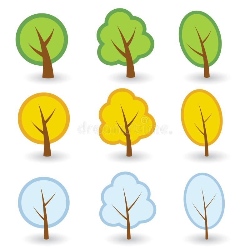 符号结构树 向量例证