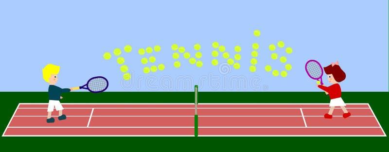 符号网球 库存例证