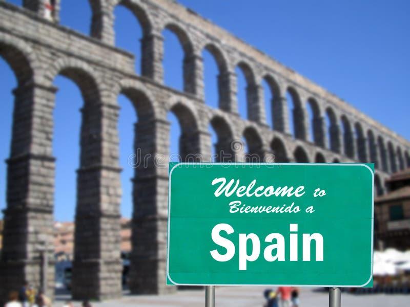 符号西班牙欢迎 库存照片