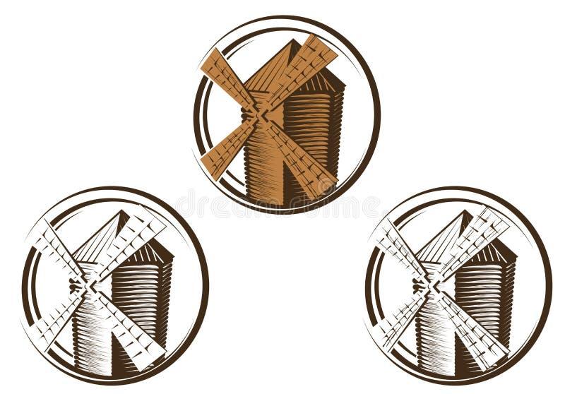 符号风车 库存例证