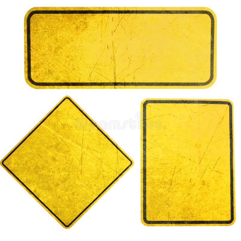 符号黄色 库存照片