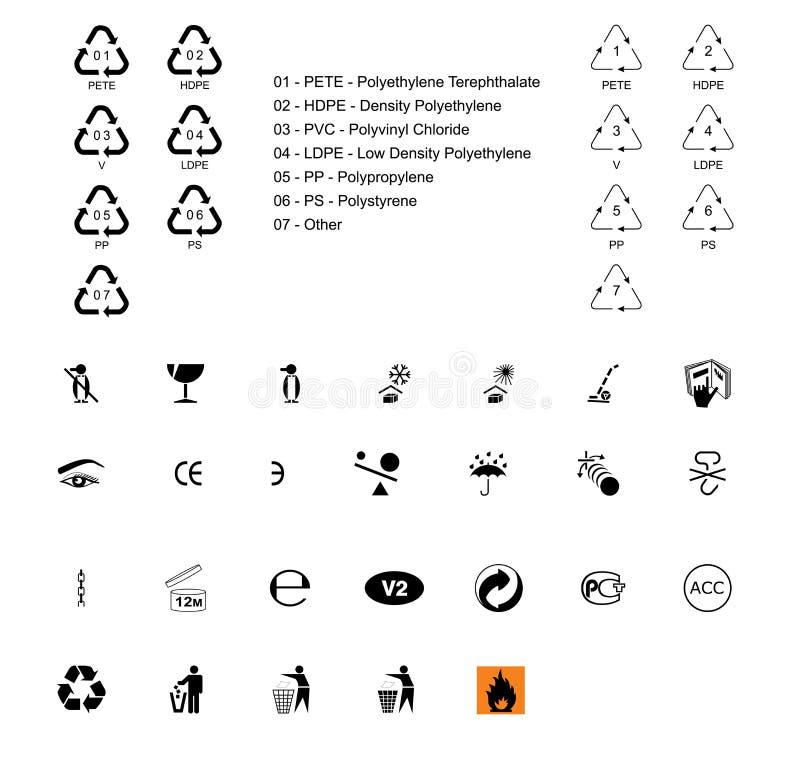 符号 向量例证