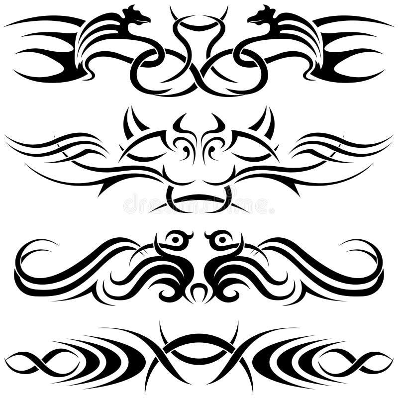 符号tatoo 皇族释放例证